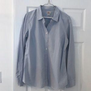 Pinstripe button down shirt